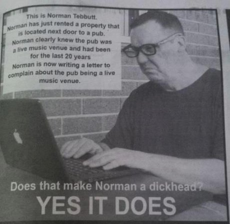 ing Norman. . run I: itle? far HIEI ID yuan Hamman new wroung I lunar In mm-. awn! than pub bring an Inn music: i' Ihp' Does that make Norman a dick e YES IT DO