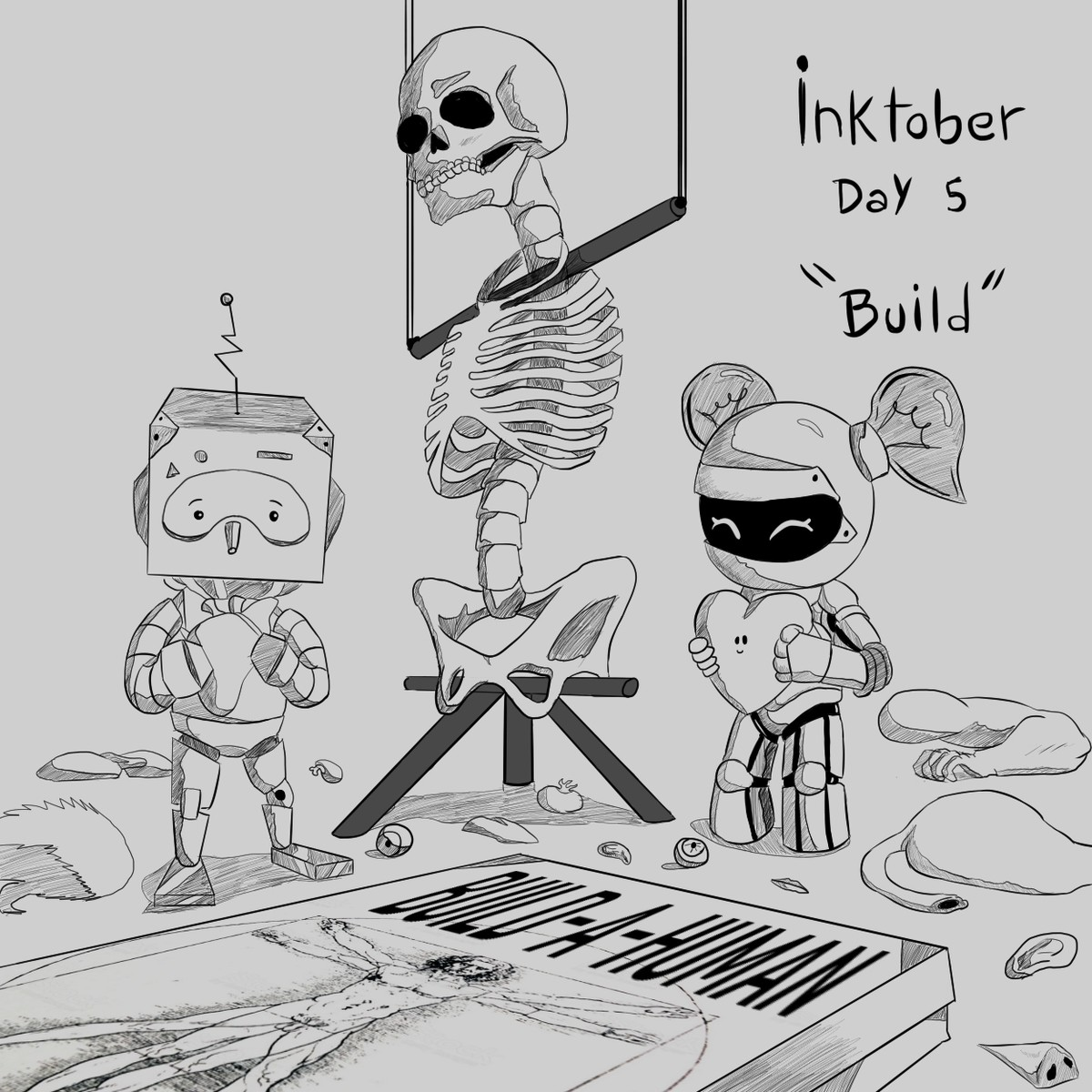 """Inktober 2019 Day 5 """"Build"""". Another late drawing for inktober!.."""