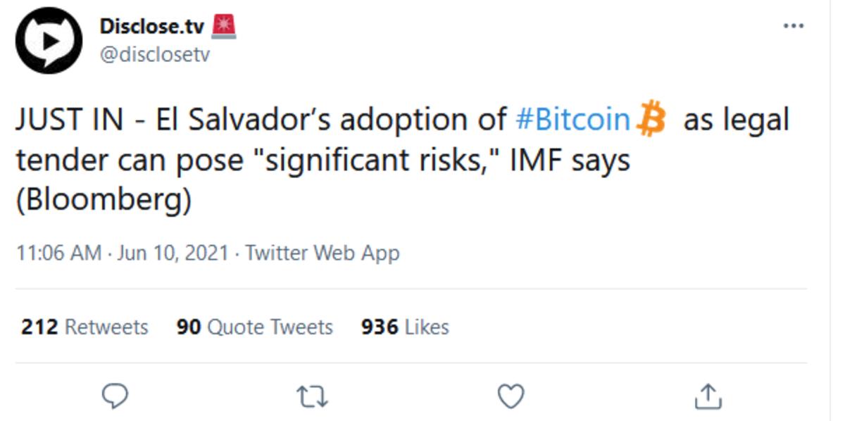 International monetar fund furious at bitcoin adoption. .. The are afraid.