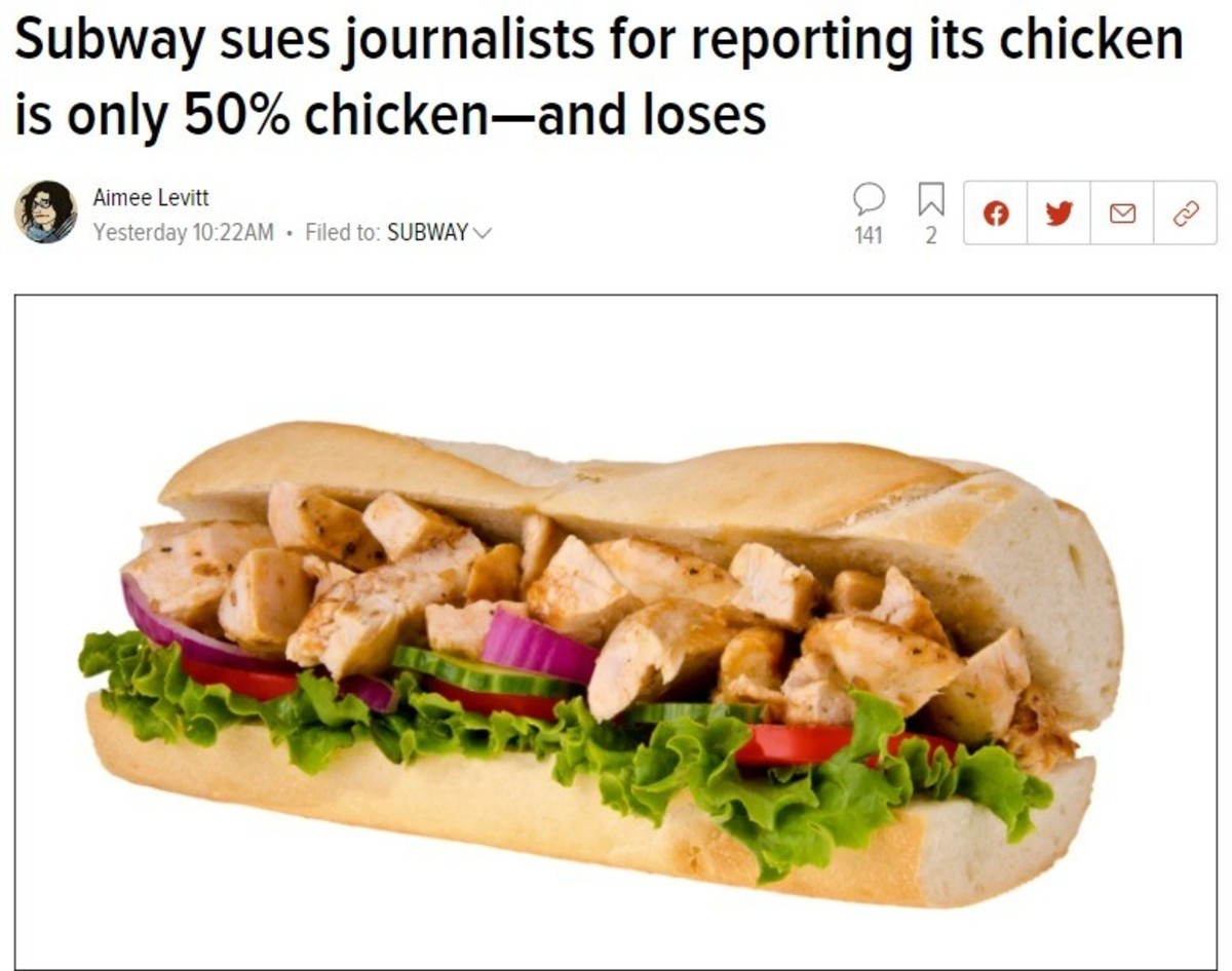 intolerable habitual s. .. The court did not rule the journalists were correct and the chicken is half soy, it ruled the journalists were immune from lawsuits under anti-SLAPP laws