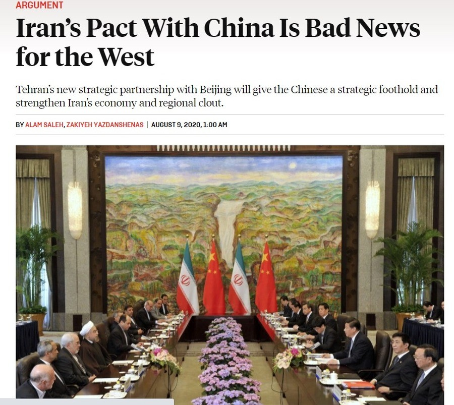 Iran and China prepare to sign 25 year alliance. .. This is indeed troubling.