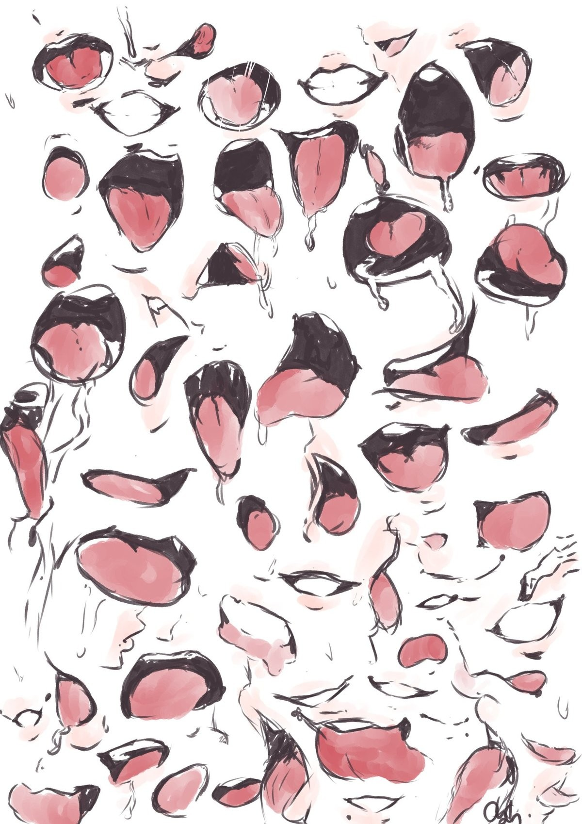 It is drawings like this that I find most lewd. .. >when they detail the lips >they're soft and plump >they say nice things to you