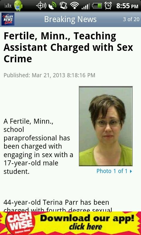It's only a crime if you're fertile. I don't know... She looks pretty menopausal to me..