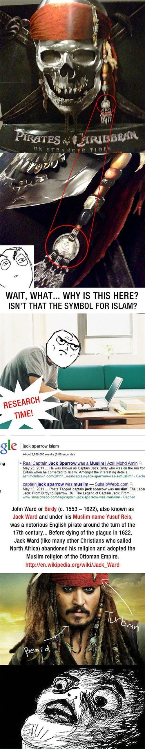 Jack Sparrow is a muslim?. Don't forget to thumb!!. WAIT, T... WHY IS THIS HERE? ISN' T THAT THE SYMBOL FOR ISLAM? ct, , lill jest: sparrow Elam About 'gojira,