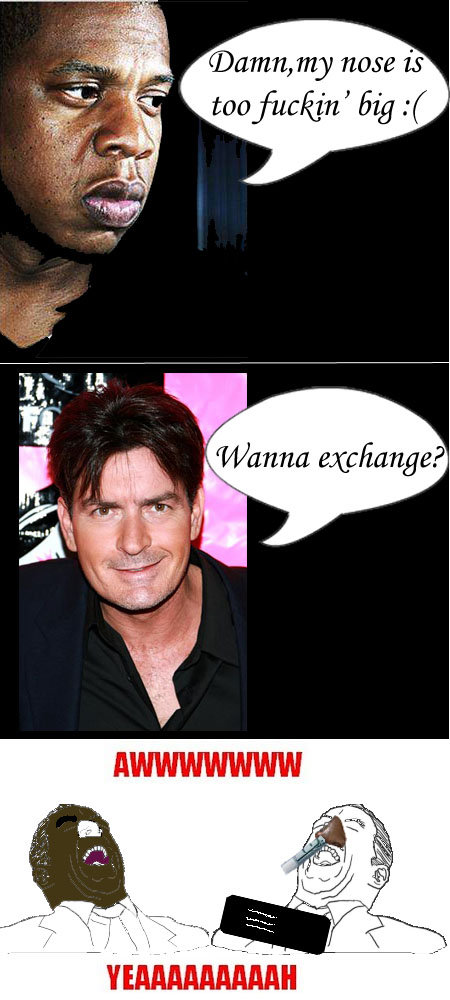 Jay Z and Charlie Sheen comix. OC.. new Its filth' Bl