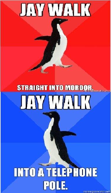 Jay walking.. some OC I put together.. JAY WALK JAY WALK POLE. Jaywalk Get hit by an 18 wheeler.