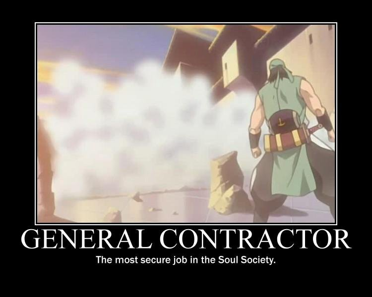 job security. found not made. The most secure job in the Soul Society.