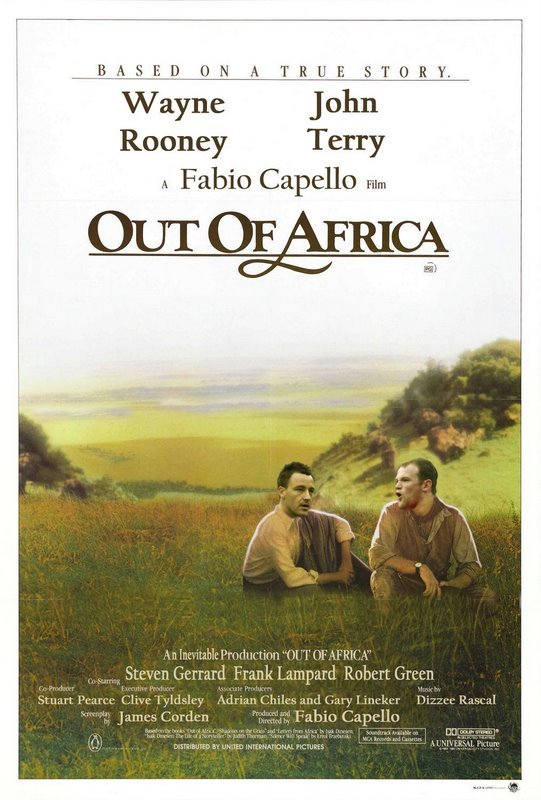 John Terry, Wayne Rooney, Out of Africa. photoshop ;) thumbs up if england SUCKED IN THE GERMAN GAME. ON A TEBE STORY. Wayne Jo n Rooney Terry A Fabio Capella F