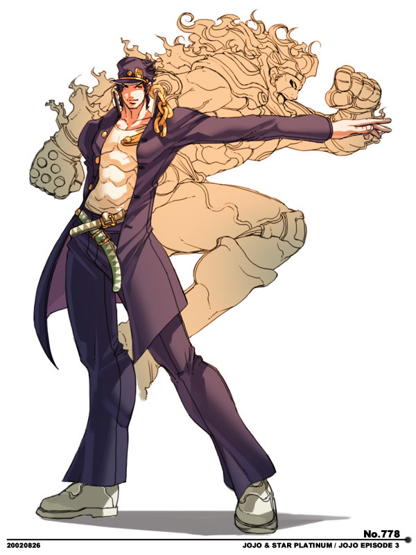 Jojo Festival Art (1/2). ~ Jotaro Kujo and Star Platinum ~ So, if you didn't know the story, basically for this Jojo Festival (happened before SBR came out), th
