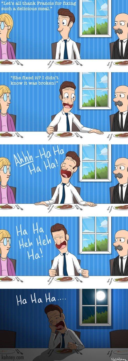 Jokes. i laugh into the night.. >make a bad joke >draw it and make jokester cry afterwards >now its a good joke. FJ logic