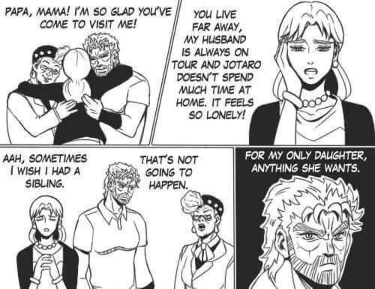 Joseph's plan. .. I can totally believe this, seeing how much Joseph loves his daughter and is a dumbass.