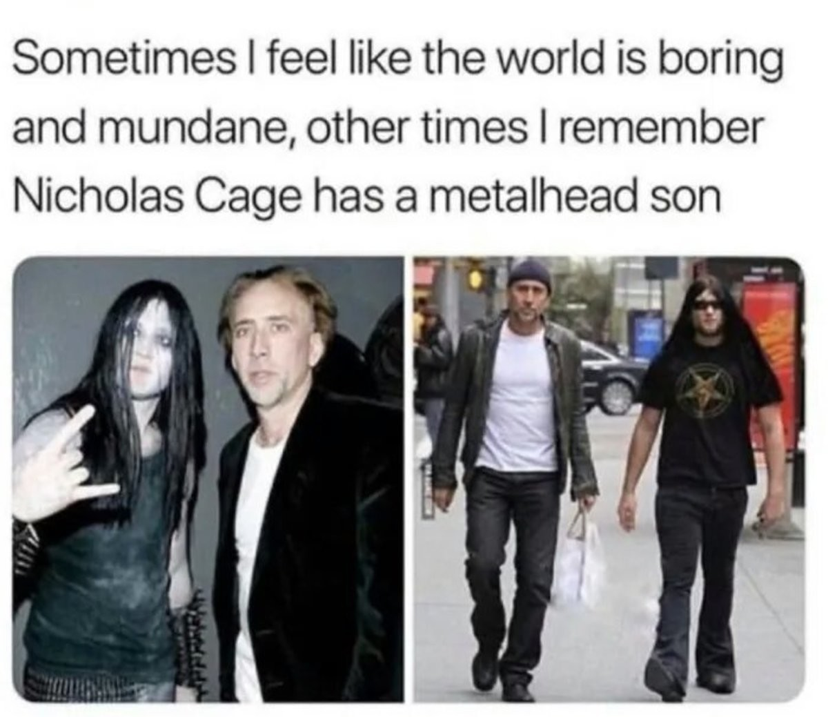 Just a reminder. .. Dudes name is Kal-El Nic Cage(also cage isn't his real last name dude took if from Luke Cage) is a nerd.Comment edited at .