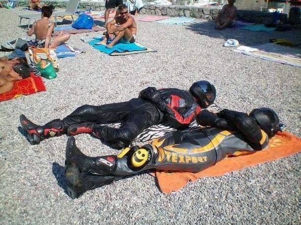 Just chillin, getting some tan.... Sunbathing, ya know....