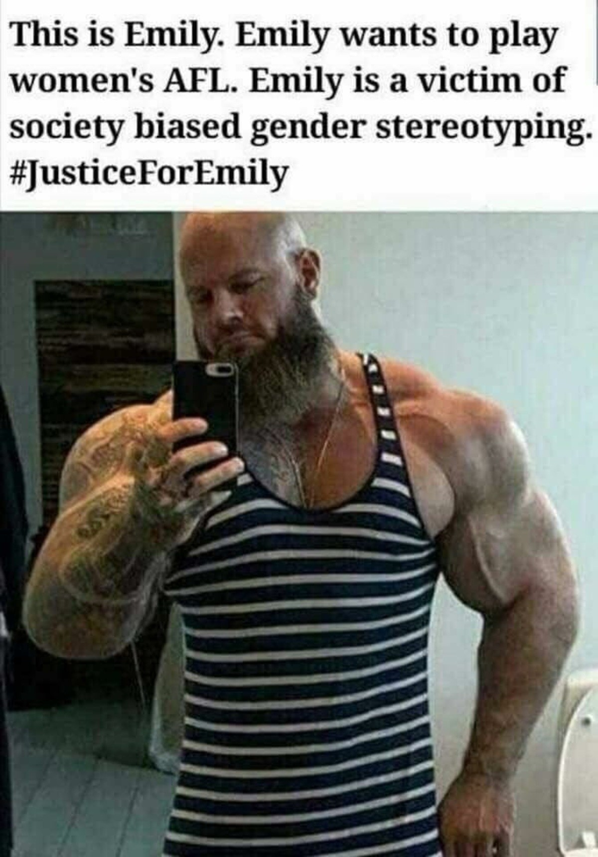 justice for emily. .. Why is a German posting an Australian meme?