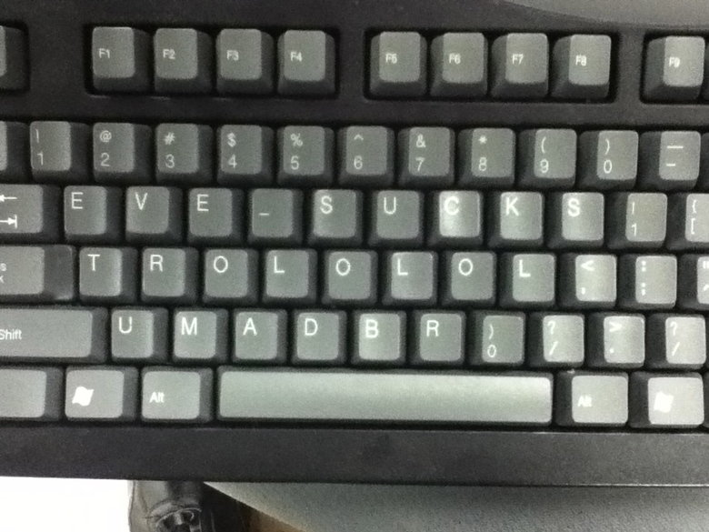 Keyboard Trolling. Did this to several of my classmates using extra keyboards we have lying around. This guy only talks about eve like its the greatest game eve