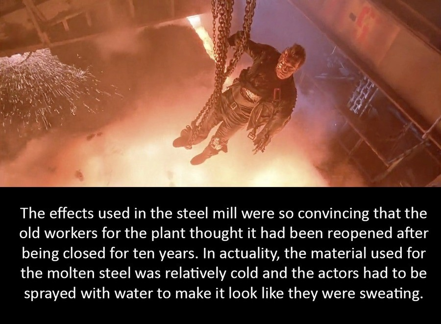 knowing Cassowary. .. I'm always amazed at the special effects in Terminator 2. They're just so good, not to mention Robert Patrick's portrayal of the T-1000 that just sells the deal