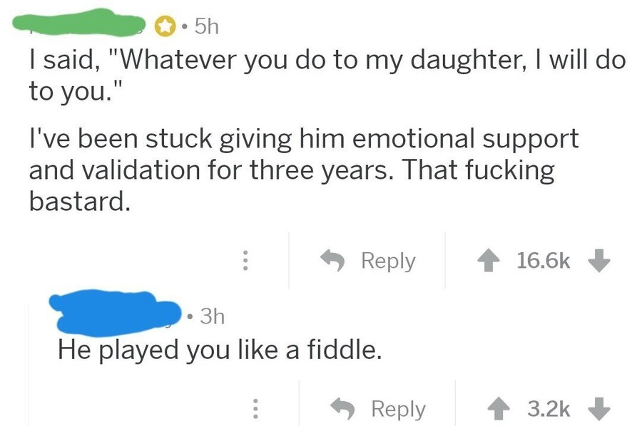 Like a fiddle. .. The cool part is, if you show your daughter love, support, and motivation throughout her life she won't settle for less in a dude.