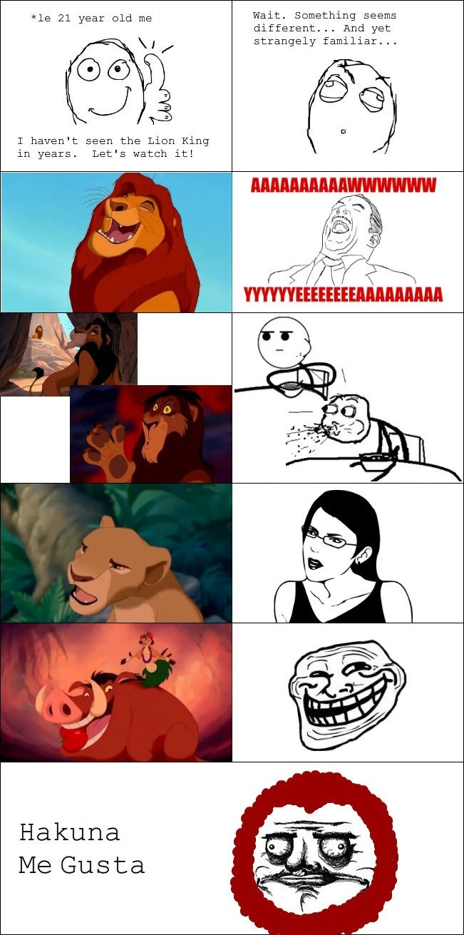 Lion King Gusta. . uncle 21 Fear told Wait. Em: -Onlything different... And yet T haven' t Seen the Lien King in years. Let' s watch it!. And then you reposted.