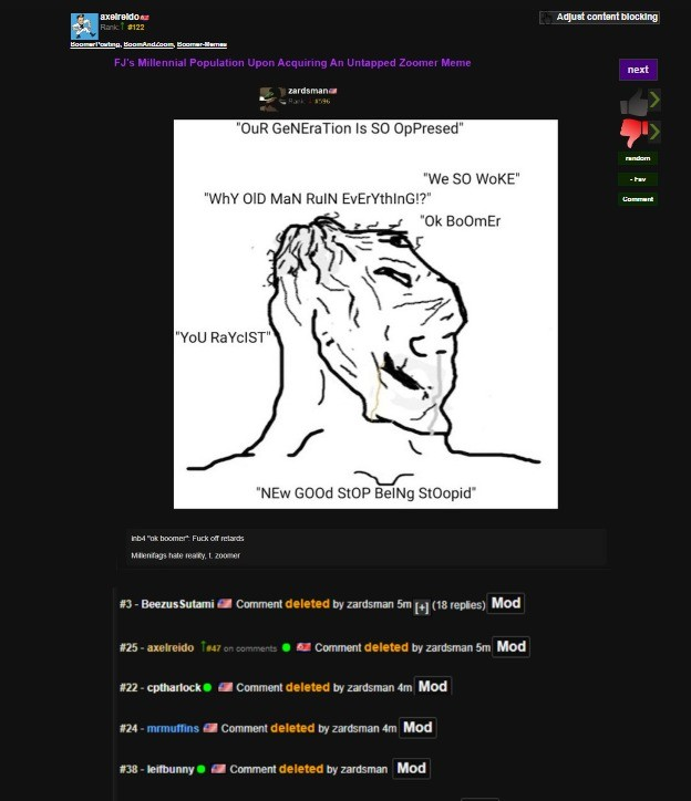 Local Mod Gets Butthurt @ Obv Bait. Can't tell if Axelreido is this gullible or if he's just going along with the joke but man FJ is really sensitive these days