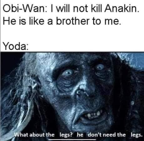 long-held marvelous listening Cobra. .. Yoda is so old %90 of people he loved like a brother have probably been dead for 500 years