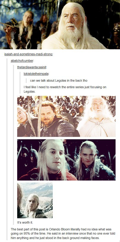 LOTR. Shame they didn't include Tom Bombadil in the movies. Help make FJ great again by posting!. Lardner: lookst_ , Ia: can we talk Legolas in the back tho I l