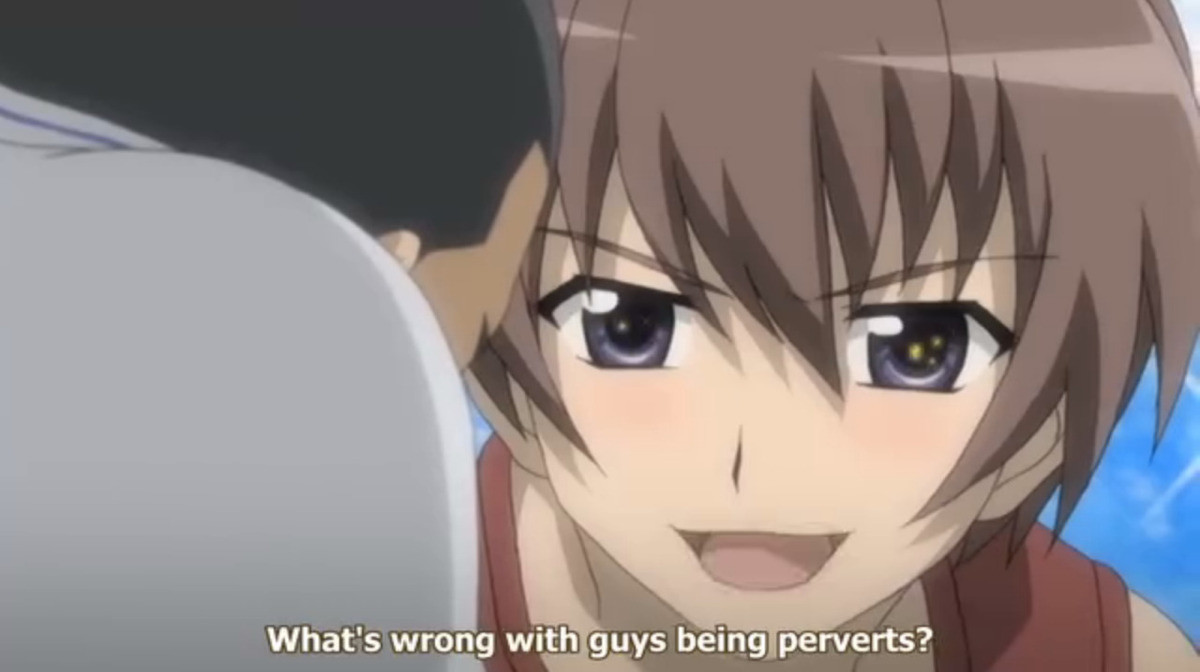 male intersecting materialistic Memers. .. ok, I'll bite: whats with all the higurashi stuff?