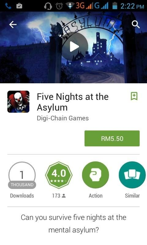 Man look at this original game. Sit 'n' survive are about to be the new things. Five Nights at the Ci) Asylum Games Downloads 173 , Action Similar Can you survi