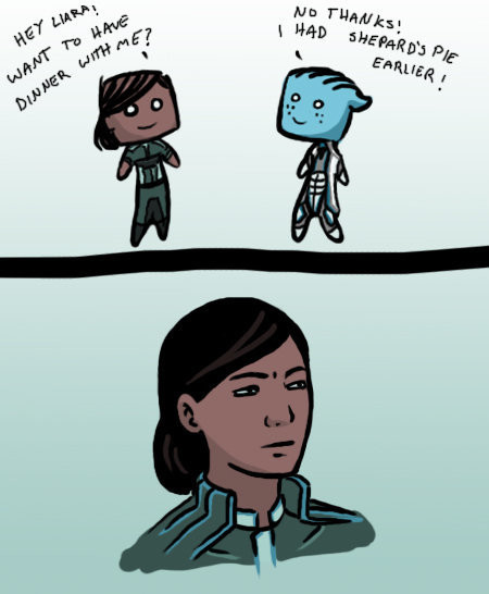 """MASS EFFECT UBER COMP. .. """"Just to suffer? Every night, I can feel my ship, my face, even my mandibles. The body I've lost, the comrades I've lost, won't stop hurting. It's like the"""