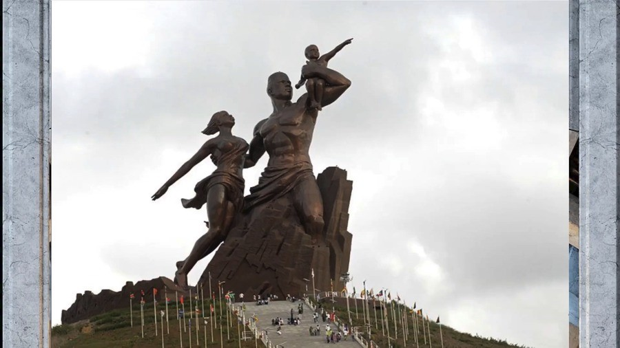 massive statue in africa to honor its people. .. Majestic, really cool.
