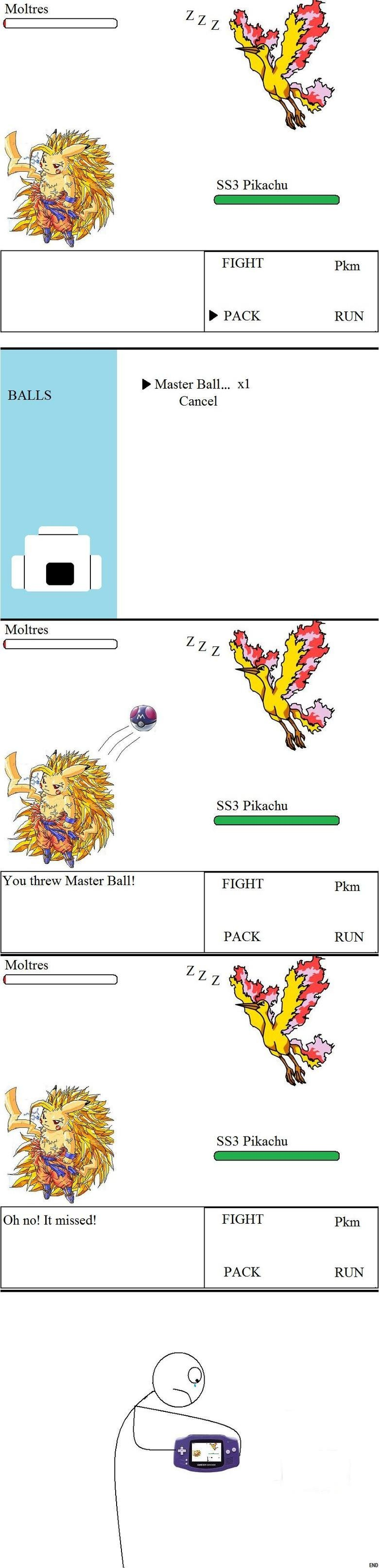 Master Ball Fail. + thumbs for end<br /> +25 for alt end.
