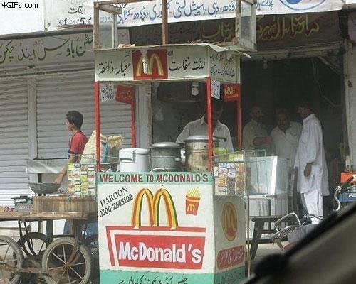 McDonalds ? yeah looks legit. great idea to make some more money I guess..