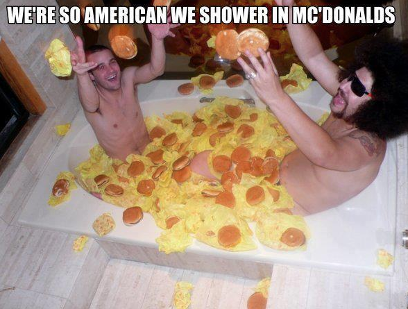 Merica'. Big macilicious.. Damnit Jesse Pinkmann and ice T, get out of there.