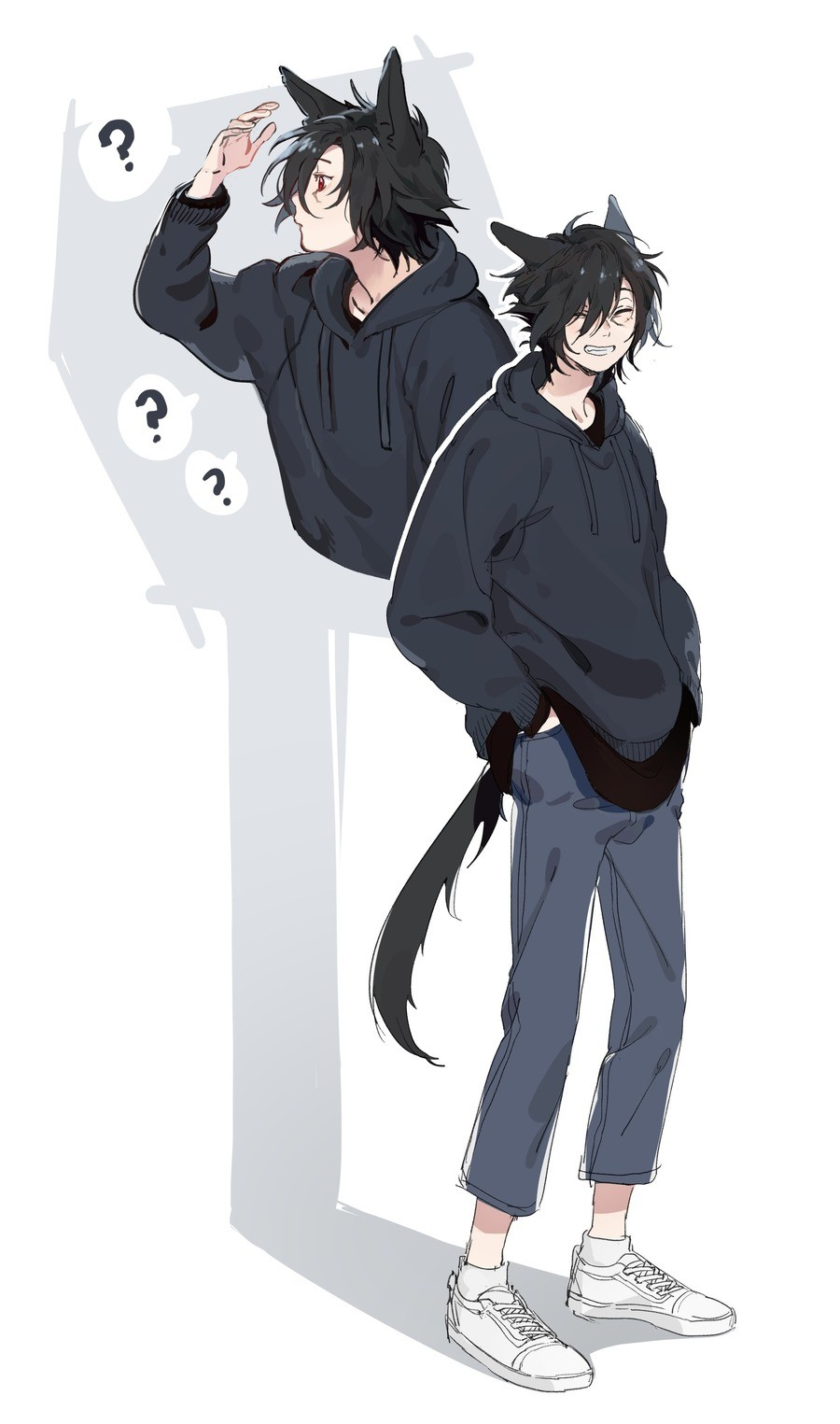 Messy haired cat bf. Source: .