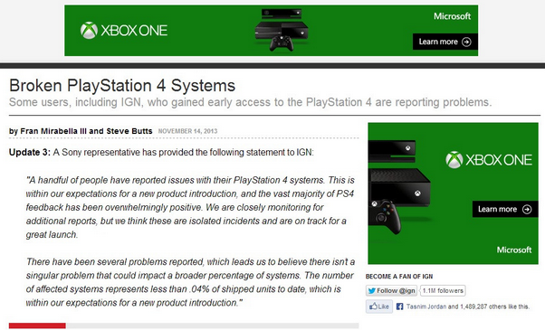 Microsoft Advertising. . tit , we Broken PlayStation at Systems Some users, including IGN, who gained early access to the PlayStation 4 are reporting problems t