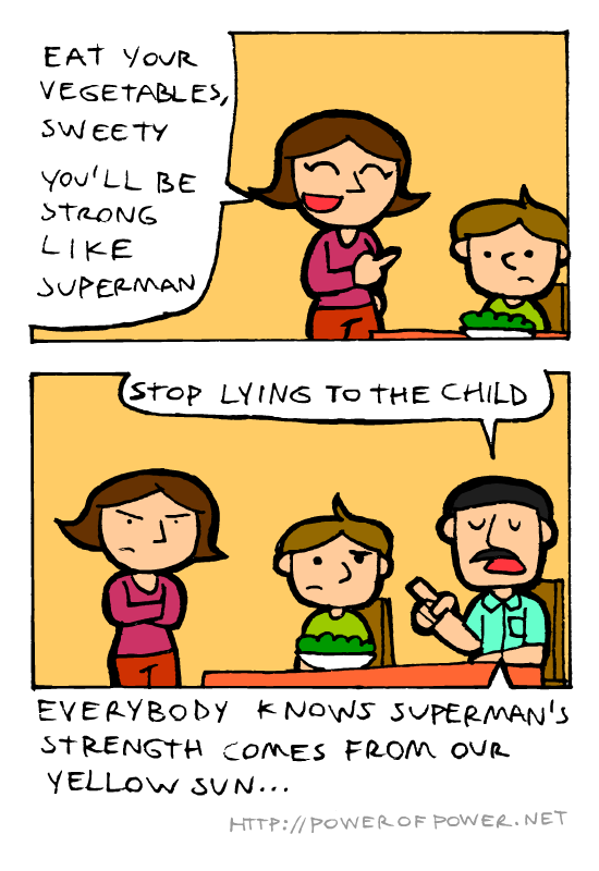 Mom Lies. via . STRENGTH comes OUR.. what happens if you have a green sun? is it like kryptonite?