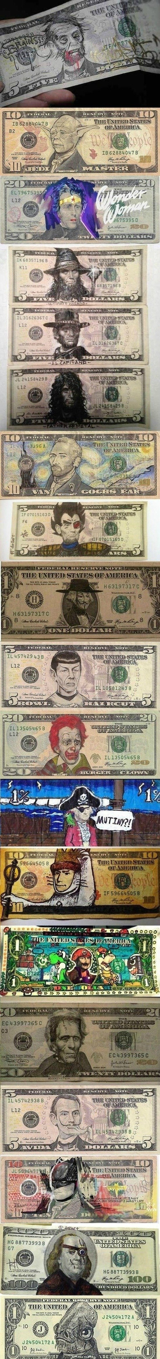 Money. If i had these I'd rather become a hobo than use them.. misses a
