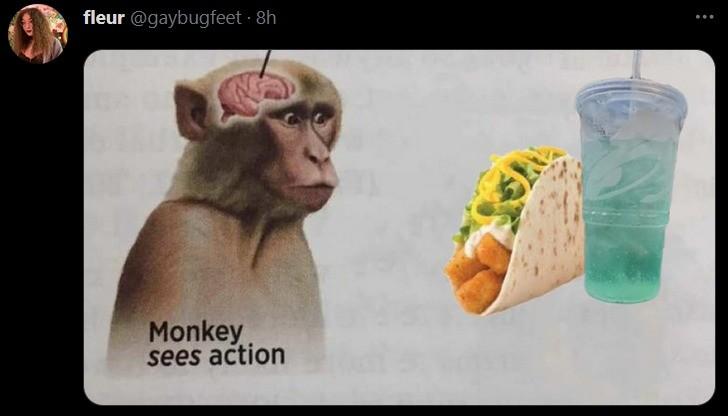 monkey. .. yeah, an excuse to break out the Baja Blast Yomi.