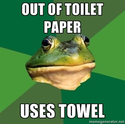 More Comfy than Toilet Paper, Anyways. .