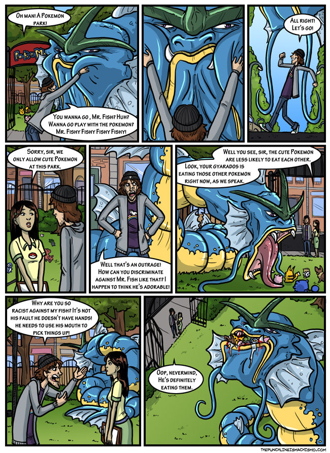 """Mr. Fish. Not mine<br /> whole web-comic at: <a href="""" target=_blank>thepunchlineismachismo.com/</a>. siir) gllt' with THE 'ultl, ' Hr..."""
