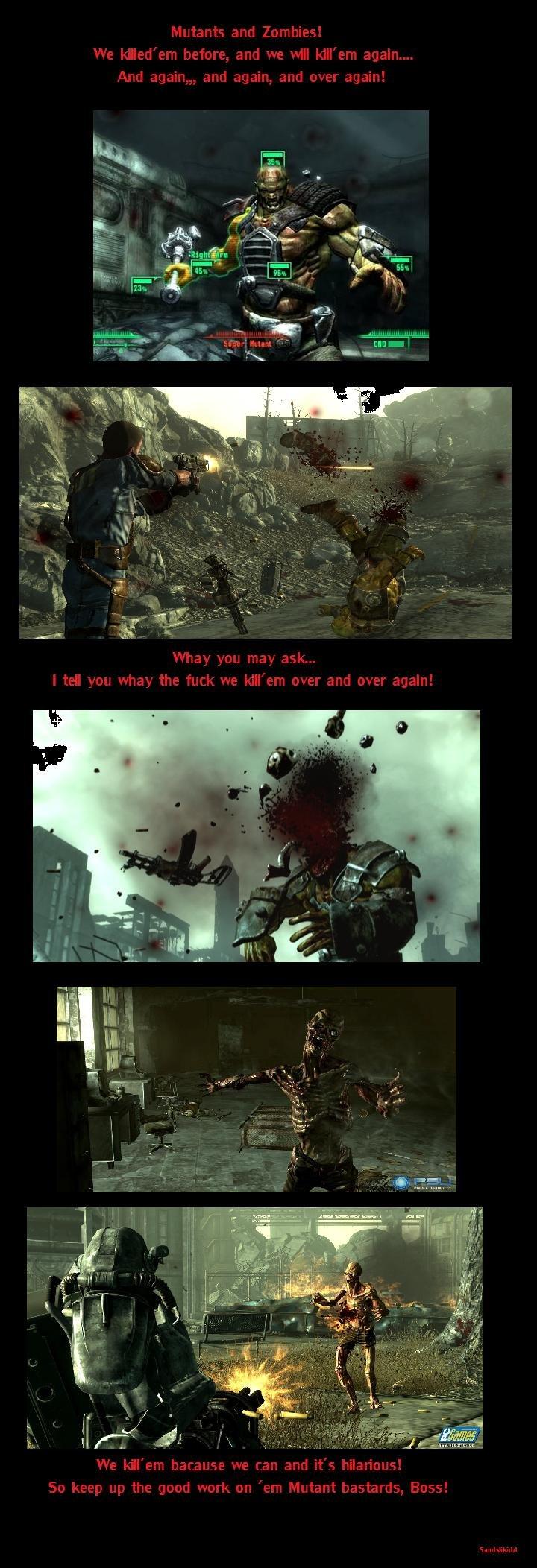 Mutants and Zombies, kill'em!. .