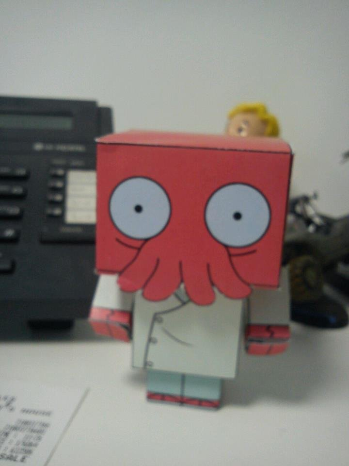 My little zoidberg I made. It isnt here..... I thumbed for vault boy in the back :3
