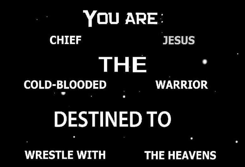 My destiny. I am Chief Jesus!.. where's this from?