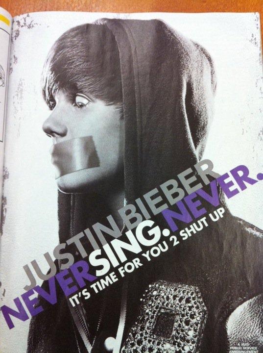 Never Sing Never. insert description here.