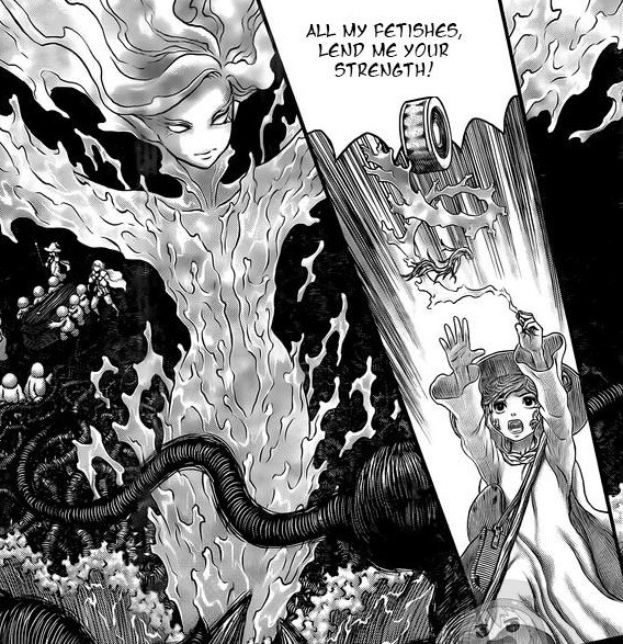 New Berserk Chapter. .. I assume she means the voodoo demon-ey doll type thing?