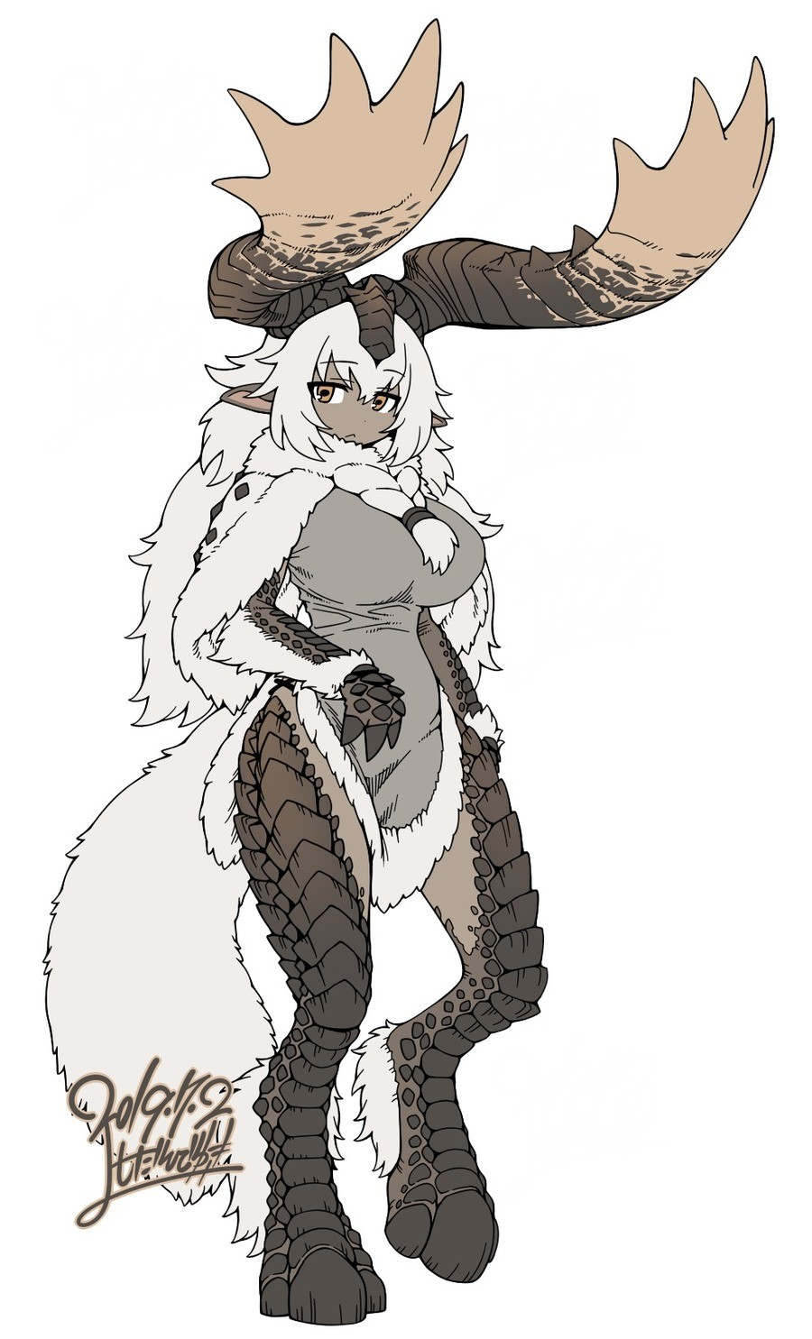 New Monster Hunter Waifu: Banbaro. One of the new monster introduced in MHW: Iceborne. Somebody was complaining about a lack of Monster Hunter girls, so check o