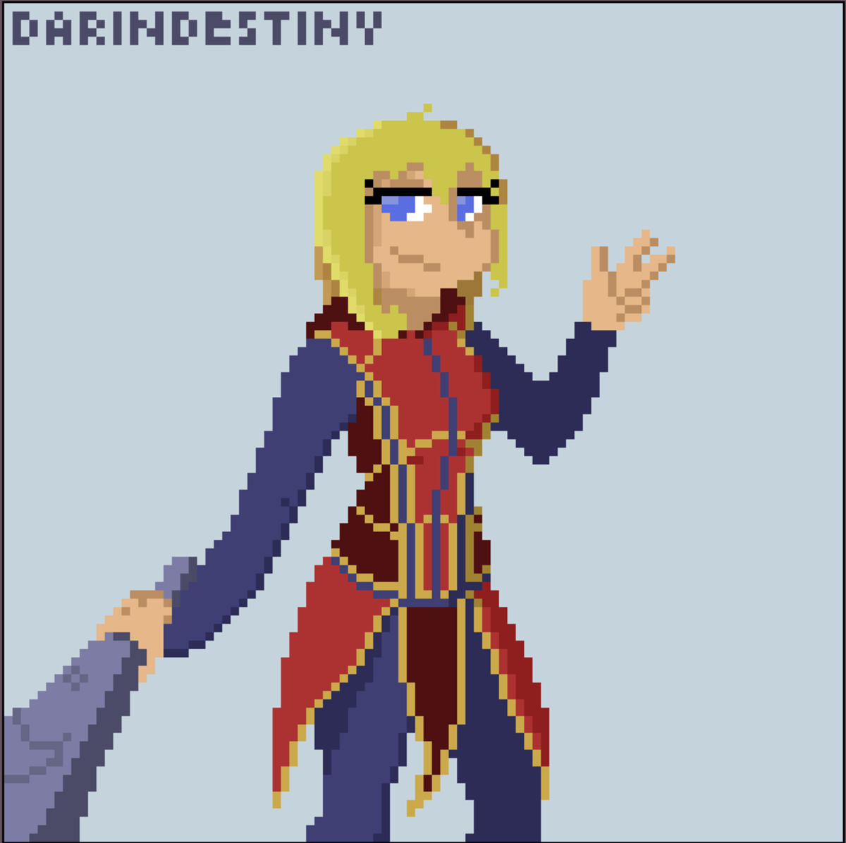 Nia Pixel Art. Just downloaded aseprite a pixel art program so i messed around with it a bit and threw my dnd OC, Nia, together using it join list: DaringDoodle