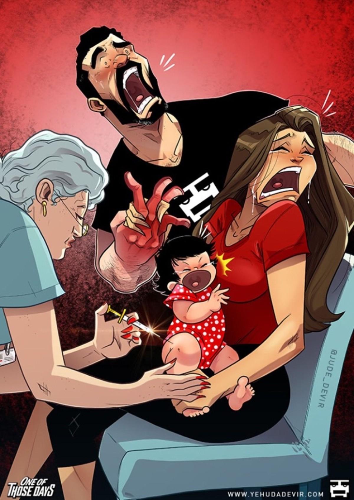 Иегуда Девир jude devir комикс ребенок прививка
