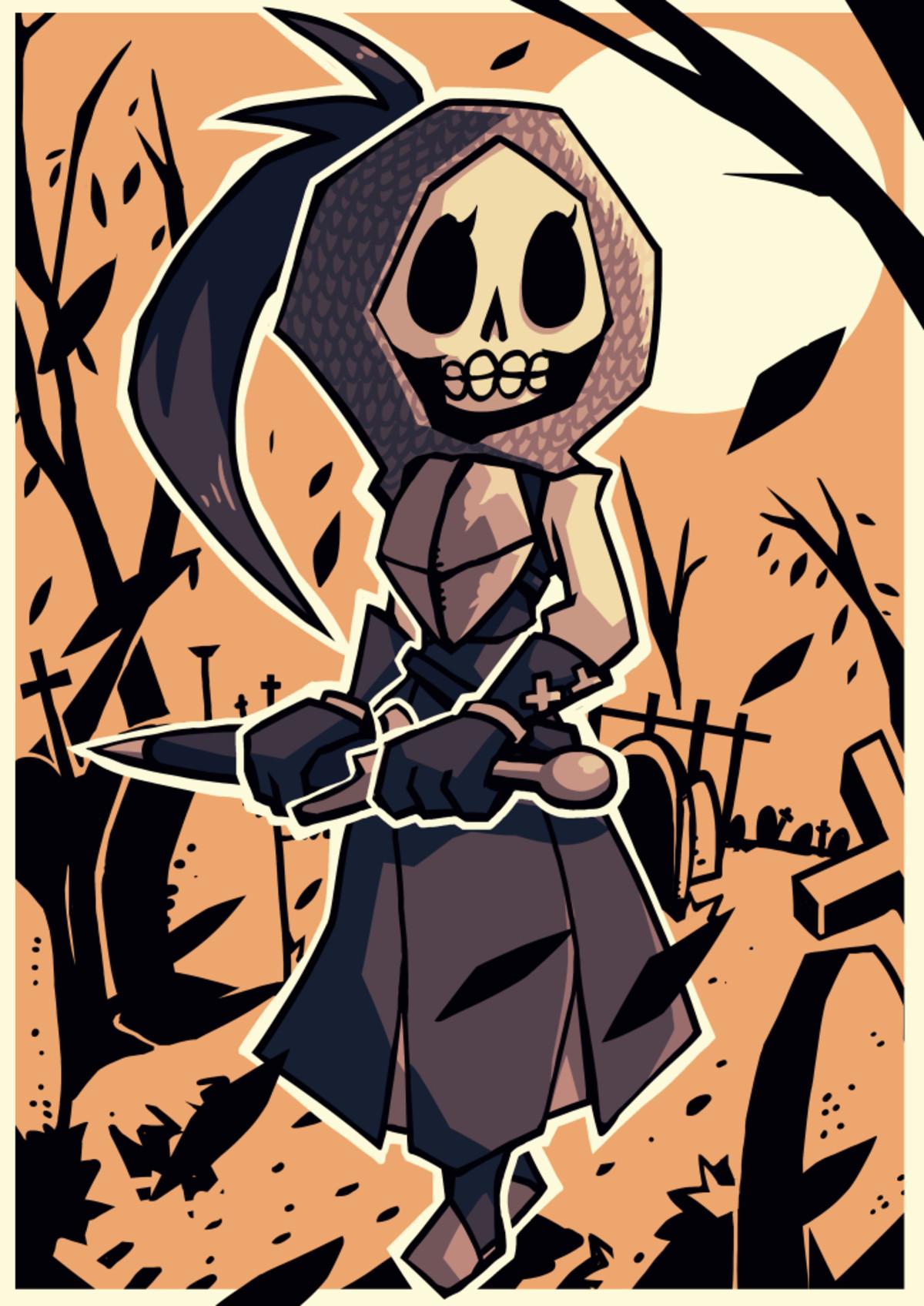 No Skeleton Graveyard Patrolling Waifu. .. She cute Got big eye sockets