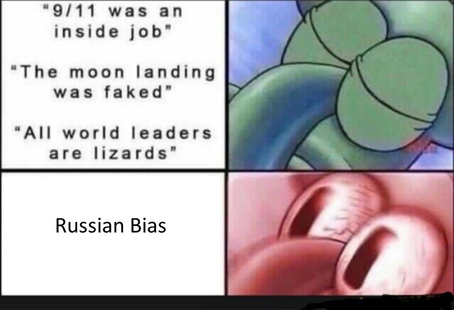 "Non-RU Tankers be like. . was an inside job"" The moon landing was faked' All world leaders are Heards' Russian Bias. those damn soviets and their dome turrets"