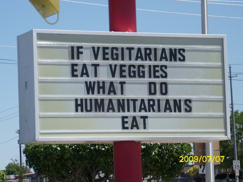 not even anymore, we said. .. whats the hardest part of a vegetable to eat? the wheel chair